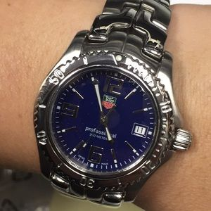 Unisex Tag Heuer blue dial st/st watch